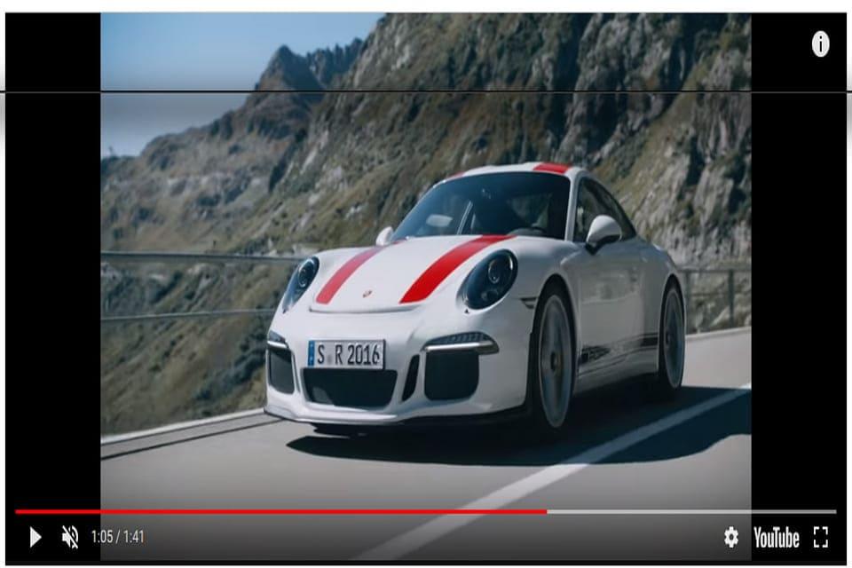 El alucinante Porsche 911 R